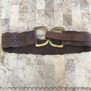 lines pelle genuine leather double D belt large
